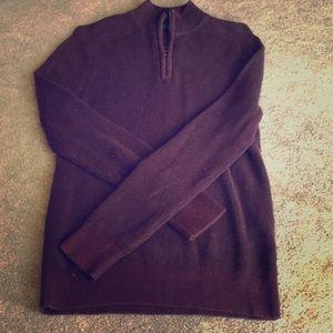 Men's Express Maroon Quarter-Zip Sweater